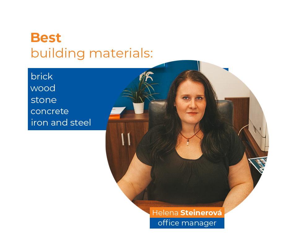 Graphics - showing a list of the best building materials to use during construction.